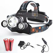 UDee LED Headlamp Rechargeable Waterproof Head Flashlight Lamp with 3* Cree XM-L