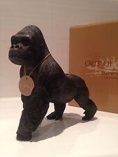 Silver Back Gorilla Ape Ornament Figurine Figure Gift Present