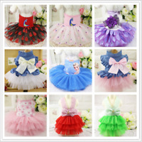 Pet Small Dog Cat Clothes Puppy  Cotton Lace Tutu Skirt Apparel Princess Dress