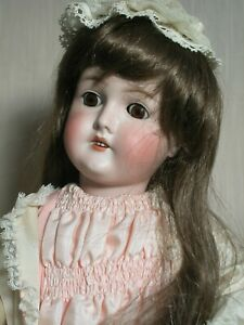 """Antique German Doll Queen Louise  Bisque Head Doll  Composition Body 23"""""""