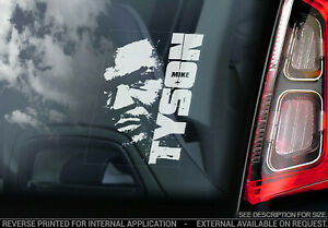 Mike Tyson - Car Window Sticker - Iron Boxing Champion Decal Bumper Sign - V01