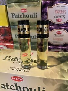 Black Ice Uncut Rich Perfume Oil Type For Men 2x10ml .