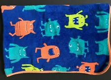 Carters Monsters Blue Green Orange Plush Baby Blanket Security Lovey