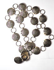 """Beautiful Sterling Silver Hoyungowa Manuel Etched Round Link Belt 25mm 33"""""""