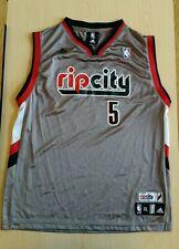 "Portland Trail Blazers ""Rip City"" Silver NBA Basketball Jersey - Rudy Fernandez"