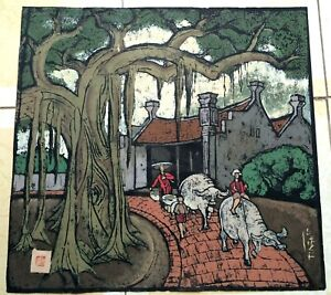 Beautiful village Ngoc Tung b1957 VUFA alumni Japan1990 France1991  & paintings