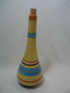 Fiesta Colors Wine Bottle Ceramic Made in Portugal Yellow Brown Orange Vintage