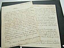 DE TOLLENARE Autographe Signé 1828 INDUSTRIEL NANTES THEOSOPHIE SWEDENBORG