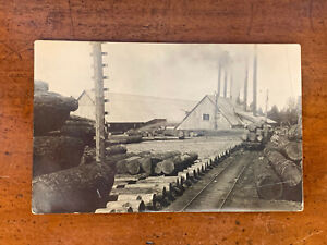 Michigan, MI, Jonesville, RPPC, Lumber Saw Mill, ca 1910