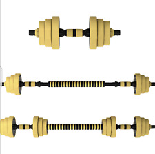 44lb Dumbbell Set Adjustable Dumbbells weights cap 552 20kg NEW Weight barbell