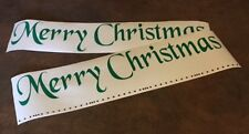 FREE SHIPPING Merry Christmas Door decal vinyl  quote words wall Holiday DIY !!