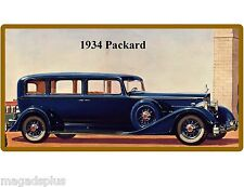 1934 Packard Auto Car  Refrigerator / Tool Box  Magnet Gift Card Insert