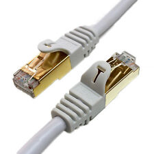 Tera Grand CAT7 600MHz Double Shielded SSTP Ethernet Network Cable, White 3 FT