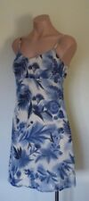 Equipment Blue & Cream Floral Summer Dress. Brand New!! Ladies size 6