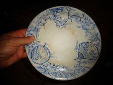 Ancienne Assiette décor Oriental Terre de Fer Dépot Rue Drouot Old Plate