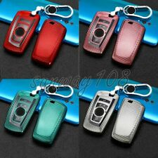 Carbon Fiber TPU Car Key Fob Case Cover Holder Shell For BMW 1 3 4 5 6 Series