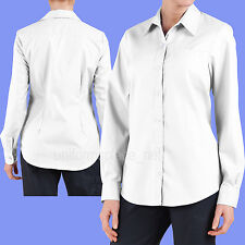 Dickies Shirts Women Stretch Poplin Oxford Work Shirt Long Sleeve FL036 Colors