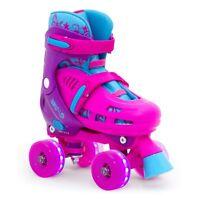 SFR Lightning Hurricane Children's Neon Adjustable Roller Skates Girls Pink/Blue