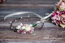 Blumenkranz Blüten Braut Frisur Hochzeit Boho A1i