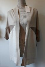 ZARA WB collection delicate Beige Loose Cardigan Size S BNWT