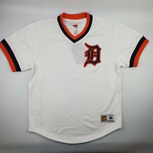 Detroit Tigers MLB Mitchell & Ness Batting Practice Jersey Mens Mesh White