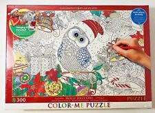 Eurographics Coloring Jigsaw Puzzle-  Holly Jolly Owl - 300 Piece Color-Me