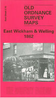 OLD ORDNANCE SURVEY MAP EAST WICKHAM WELLING 1862 DOVER ROAD BELL GROVE