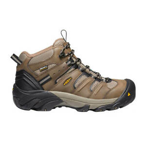 KEEN 1021332 Men's CSA Brindle Lansing Mid Steel Toe Waterproof Work Shoes