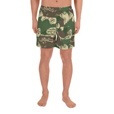 Rhodesian Brushstroke v4 Men's Athletic Long Shorts