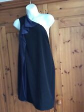 AllSaints black and blue one shoulder dress RRP £165!