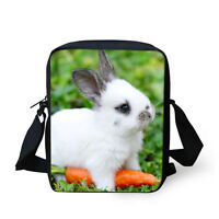 Rabbit Animal Small Cross Body Shoulder Bag Beach Purse Teens Girls Boys Satchel