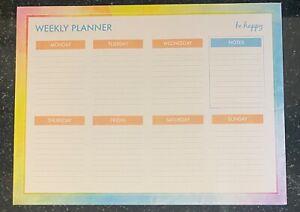 Weekly Desk Planner Pad Book To Do List Organiser Home Office Tear Off 52 Week
