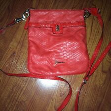 Guess Confession Mini Red Crossbody Pouch Bag EUC