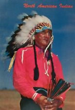 Postcard North American Indian Native American Traditional Headdress Color