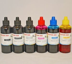 6X100ml dye refilling ink bottle alternative for canon MG IP printer CISS GY CA