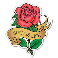 Such Is Life Rose Sticker Tattoo Art Sailor  #6943LS