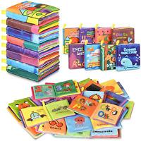 Baby Bath Books Nontoxic Fabric Soft Baby Cloth Books Early Education Toys