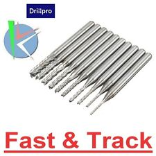 Frese 10pcs 0.8-3mm Carbide PCB Drill Bits Engraving Milling Cutter for CNC