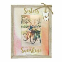 "Vintage Boutique Sisters Embellished Wood Photo Frame Suits 4"" x 6"" Photos"