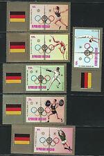 Chad SC268-270-C135-C137 20th Olympic Games-Setebabt w/LabelArmsOfMunichMNH1972