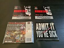 Resident Evil 2 Manual And Inlays ONLY (Playstation 1) VGC.