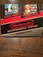 Super Mario Bros. / Duck Hunt (Nintendo Entertainment System, 1985) NES Manual