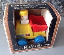 Vintage#Tomy Push/N Go Dump Truck Boy Figure Nib