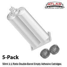 Atlas Pro 50ml Empty Dual-Barrel Cartridge Only-1:1 mix ratio-5-Pack
