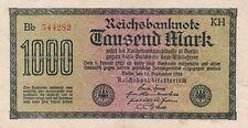 1000 Mark Reichsbanknote 15.September 1922 Deutsches Reich