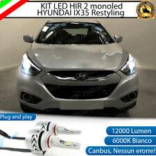 KIT LED HIR HYUNDAI IX35 6500K BIANCO CANBUS 12000 LUMEN MONO LED MONOLED