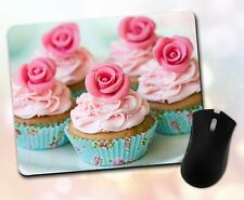 New listing Food ~ Cupcakes, Pink Frosting, Floral, Pretty, Gift, Decor ~ Vivid Mouse Pad