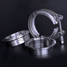 "2.5"" inch 64mm V-Band Vband Clamp Stainless Steel Flange exhaust pipe tailpipe"