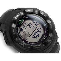 "-NEW- Casio ProTrek ""Black"" Atomic & Solar PRW2500-1A Watch"