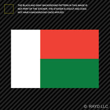 "4"" Malagasy Flag Sticker Decal Self Adhesive Vinyl Madagascar MDG MG"